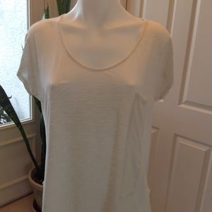 Short sleeve scoop neck pkt tee by The Refinery